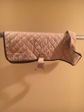 New With Tags Large Coach Khaki Quilted Dog Coat With Brass Closure