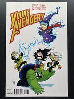 Marvel Comics Young Avengers #1 Vol 2 Skottie Young cover Variant