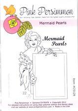 MERMAID PEARLS - Pink Persimmon Clear Stamp