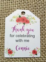 25x PERSONALISED Birthday Tags Party Gift Favour Tags