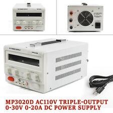 0-30V 0-20A Lab Linear Dc Bench Power Supply Regulated Variable Led Mp3020D New