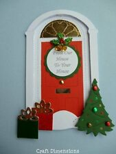 EXCLUSIVE VICTORIAN CHRISTMAS  FRONT DOOR DIE CUTS FOR CARD TOPPERS
