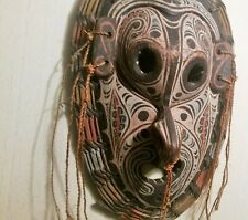 SOUTH PACIFIC tribal dance mask papua new guinea wood face tattoo tiki carving