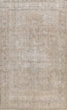 8x11 Vintage Distressed Muted Traditional Area Rug Hand-knotted Evenly Low Pile