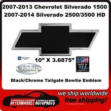 07-14 Silverado 2500/3500 HD Black/Chrome Tailgate Bowtie Emblem AMI 96095KC