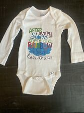 Infant Baby Boy Girl Unisex Rainbow Baby Long Sleeve White Shirt 18m