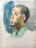 Portrait - Young Man With Bart 3 - Head - Young Man - Unsigned 11 13/16X9 3/8in