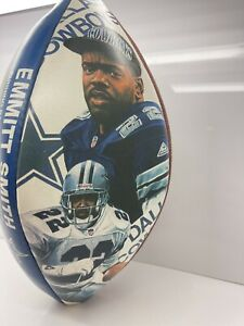 EMMITT SMITH THE DALLAS COWBOYS NFL ALL-TIME RUSHING LEADER AUTOGRAPH FOOTBALL