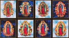 Inner Faith - New Virgin Mary Panel  Robert Kaufman  SRK-17296-63  Sky Galaxy