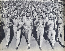 Afghan Army Afghanistan Soldiers Marching 1950's 5x4 Inch Reprint Photo