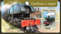 Sao Tome & Principe 2016 MNH Steam Trains Engines Locomotives 1v S/S Stamps