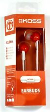 181058  KOSS KEB6i In-Ear Headphones/Earbuds (Red),In?line 1-touch microphone