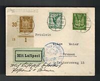 1926 Koln Germany to Breslau Early airmail Cover