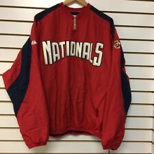 Washington Nationals Wind Breaker Jacket Size Xl Majestic