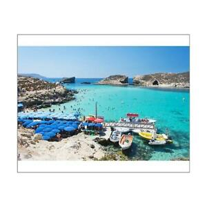 "14713741 10""x8"" (25x20cm) Print of Blue Lagoon Camino Island Malta"