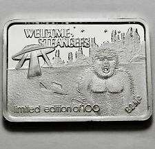 Green Country Mint Gcm Welcome Strangers 1 Oz .999 Silver Bar Rare Only 100