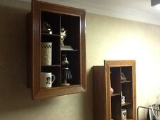 Handmade Wall Mount Shadow Box With Shelve In-out Dark tones Wood Early american