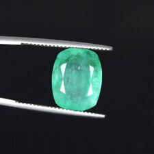 Cushion Cut Natural Green Emerald 7.50 Ct. May Birthstone Loose Gemstone DA-22