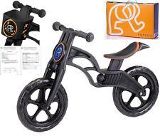POPBIKE Children Kids Learning Balance Bike 12 EN71 & CE Certified Safety BLACK