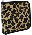 110 Cd DVD Storage Wallet Car Disc Holder Carry Case Sleeve Velvet Animal Print