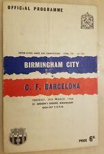 1960 FAIRS CUP FINAL BIRMINGHAM CITY V BARCELONA - 1st Leg