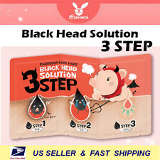 [ ELIZAVECCA ] Milky Piggy Black Head 3 Step SolutionX 5 Sheet +NEW+ Free Sample