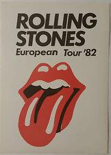 Rolling Stones - 1982 European Tour - promotional sticker - original & official