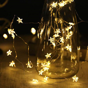String Fairy Lights for Christmas Halloween Valentines Party Home Bedroom Star