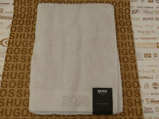 "Hugo Boss Main Rouge Sumptuous Soft white cotton Towels 20x36"" Medium Sheet BNWT"