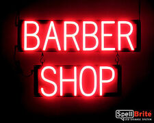 SpellBrite Ultra-Bright BARBER SHOP Sign Neon-LED Sign (Neon look, LED power)