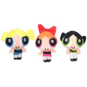 Set of 3 Powerpuff Girls Plush Pendant Bubbles Blossom Buttercup Toy Keychains