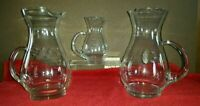 princess house heritage hand blown pitchers Set of 3