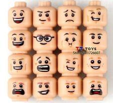 16 CUSTOM EMOJI PRINT MINIFIGURE HEADS FITS LEGO TORSO NEW
