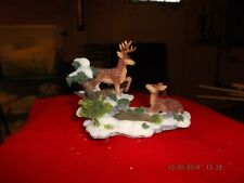 O'Well Christmas Village Accessories - 2 Deer on Snow