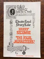 Harry Secombe in The Four Musketeers, Theatre Royal Drury Lane Programme 1967