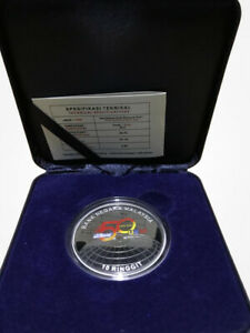 Malaysia RM10 UKM 50 Tahun 1970 - 2020 Single Silver Proof COA 272
