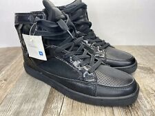 New With Defect Men's Black Cadillac High Top Shoes Size 10.5 See Pictures