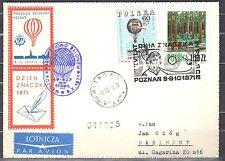 Poland 1971 - Balloon Post Card - Balloon Poznan