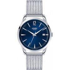Orologio Henry London Knightsbridge HL39-M-0029 acciaio blu 39mm box&garanzia