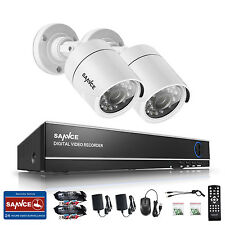 SANNCE 4CH 1080N 4in1 DVR 720P IR Night Vision TVI Home Security Camera System