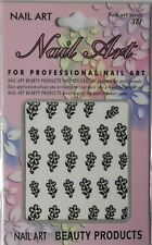 Nail Art Stickers Flowers Black and Silver 29 PcsFree Shipping Nip