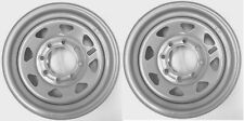 2-Pack Trailer Wheel Silver Rims 16 x 6 Spoke Style 8 Lug On 6.5