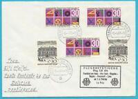 Rfa Correo Aéreo Carta De Frankfurt / Main Dependiendo Bolivia 6.4.1968 Aerea LH
