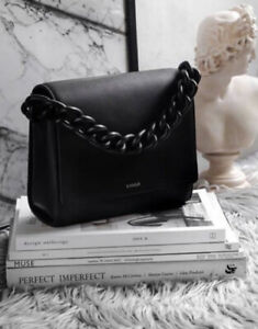 Xnihilo Official Hardy Black Nappa Leather Chain Strap Satchel