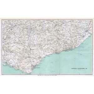 HASTINGS, EASTBOURNE & District - Vintage Folding Map 1932