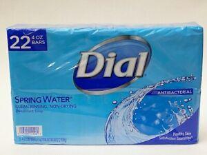1 Pack 22 Bars Dial Antibacterial Deodorant Soap Spring Water Scent 4.0 Oz Each