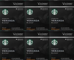 Starbucks Verismo Veranda Blend Blonde Roast Brewed Coffee Pods 72-Ct BBD 4/21