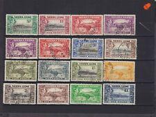 Sierra Leone KGVI SG 188/200 Cat £80 Used