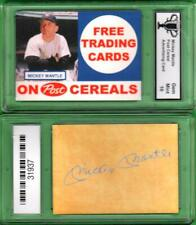 MICKEY MANTLE POST CEREAL Facsimile Autograph Ad PROMO CARD GRADED GEM 10  #G