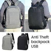 Sac d'ordinateur portable école voyage homme sac à dos anti-vol chargeur USB G